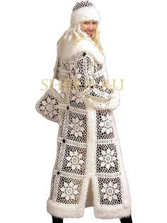 Crochet snow-maiden outfit
