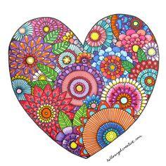 floral heart, doodl, color zentangl, angel creativ, floralheart, angels, hello angel, flower, heart illustrations
