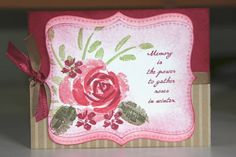 This card is from the retired set - Roses in Winter. A beautiful card for Valentines Day.