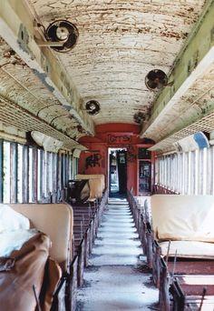 Abandoned train outside of Kingston New York