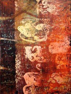 "The Saturn Fragments        * 2011      * Acrylic on canvas      * 40"" x 30"""