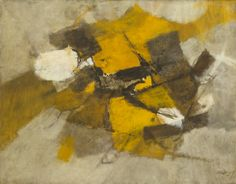 Afro (Afro Basaldella). Night Flight (Volo di notte). 1957 - #Guggenheim Museum #abstract #painting
