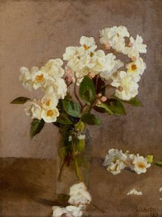 Sir George Clausen: Little White Roses.