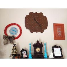 Clock Wall Done thanks to Modern Masters Paint | A Vision to Remember All Things Handmade Blog