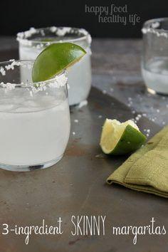 3 Ingredient Skinny Margaritas - The easiest margarita you'll ever taste - under 70 calories!