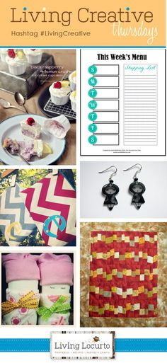"""Great DIY Projects - """"Living Creative Thursdays"""" Round-Up! #LivingCreative"""