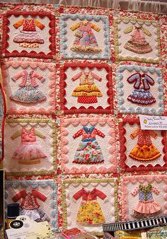 Adorable little dresses quilt