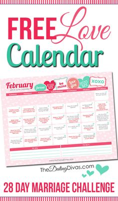 This is so cool! A 28 day marriage challenge with a little love assignment every day. It even has links to date ideas and romance tips. www.TheDatingDivas.com