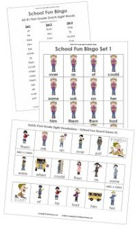 Printable Sight Word Games