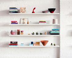 Everything You Need For a Skillfully Styled Bookshelf // white shelves, open shelving
