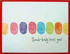 Thumbprint Valentine – cute kid craft or DIY card