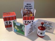 Jack's 8th Minecraft Birthday Blast | CatchMyParty.com: Invite