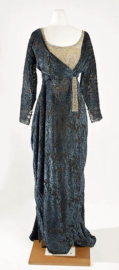 Evening dress Jeanne Hallée  (French, 1880–1914) Date: 1910–14 Culture: French Medium: silk, glass