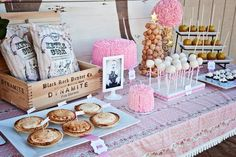 dessert tables, cowgirl party, western parti, rustic chic, mini pies