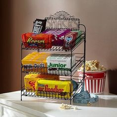 This display is no longer available, but a spice rack could be repurposed to create a similar display.