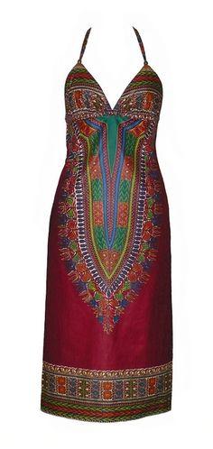 """Dashiki Dress"" african dress by Jahnhoy Rootical Wear"