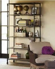 pipe bookcase