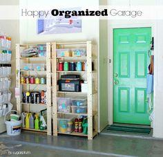 IHeart Organizing: UHeart Organizing: Giddy for Garage Organization.  LOTS of good garage organizing ideas here.