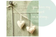 hanging hearts are so sweet