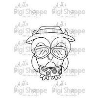 $3.00 Beach Bum Owl Digital Stamp from A.J.'s Digi Shoppe™