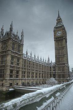 Big Ben on a snowy winter day
