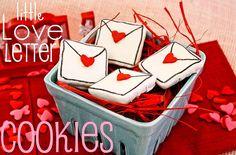 Little Love Letter Cookies! Cute!