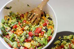 Avocado, Corn & Asparagus Salad