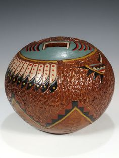 Navajo Hand Coiled Pottery by Nancy Chilly