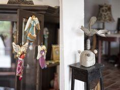 Plaster/dough angels BreeVintage-cottage