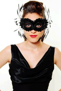 Velvet & Feather Masquerade Mask