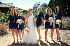 navy bridesmaids dresses from Nordstrom.