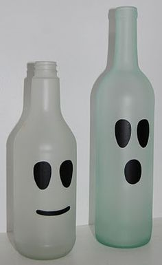 Nap Time Crafts: Pumpkin and Ghost bottles