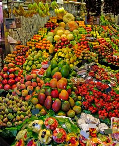 All sorts of tropical fruit