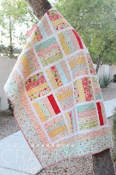 Jelly Roll Baby Quilt - the Crafty Cupboard