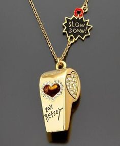 Betsey Johnson Whistle Necklace