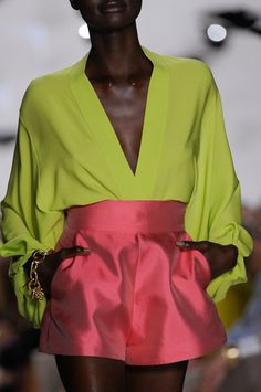 Pink and green Diane von Furstenburg (Spring/Summer 2013)