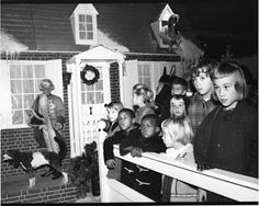 1964 Lit Brother's Enchanted Christmas Village. Girl on right could have been me!