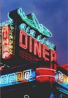 Air Line Diner (Queens, NY)....oh yeah!!!! Retro Multi-Neon Colored Sign.