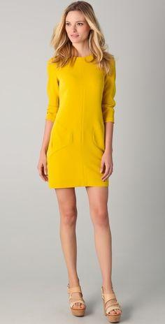 Bright sunshine yellow! Rag & Bone Harlow dress.