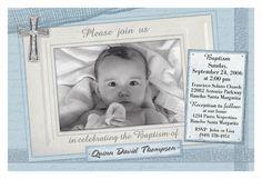 Sweet baby blue christening invite.