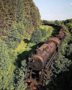 Somewhere in Russia, a train grows into the landscape