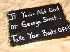 """Handmade Wooden Funny Country Cowgirl """"BOOTS OFF"""" Quote Saying Wall Art Sign, Room Decor. $6.00, via Etsy."""