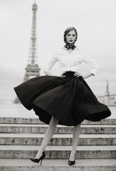 OOh-la-la 1950s inspired fashion, paris fashion, 1950s photography, white shirts, 1950s paris, black white, parisian style, parisian chic, fashion vintage photography