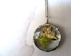 Faeries of the Glen Moss Glass Pendant by RenataandJonathan,
