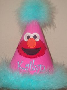 Pink Elmo Party Hat-