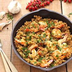 If you're looking for shrimp that are full of flavor and healthy, this chili-garlic quinoa and shrimp dish fits the bill perfectly.