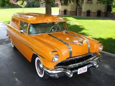 Canadian Rarity: 1956 Pontiac Pathfinder Delivery Wagon // Now THAT is orange.
