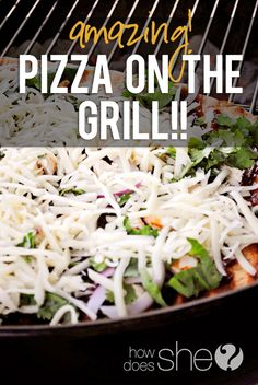 Amazing Pizza on the Grill!! One of our favorite ways to make pizza now! Love it! #grill #recipes