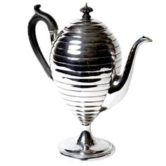 """Silver Plate """"Beehive"""" Coffee Pot 