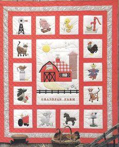 Quilt Pattern Granpa's Farm Size 72x90. $5.99, via Etsy.